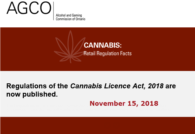AGCO published the regulations of the Cannabis License Act